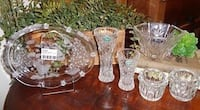 Lenox Mikasa Tuscany Crystal Holiday Vases Dish Plate & Votive Holders Edmond, 73034