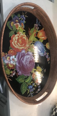 MacKenzie  Childs   Floral serving  tray 81 km