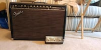 Fender Super sonic 60 watt amp with pedal. Taunton, 02780