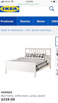 Ikea queen size bed white Toronto, M4Y 1C3