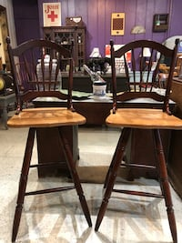 Pair of wooden bar stools. Excellent condition  Frederick, 21701