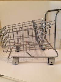 stainless steel collapsible shopping cart