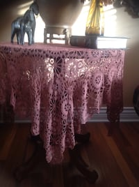 "Vintage handmade crochet table topper 50""x50"" from mercerized cotton in excellent condition ! Brossard, J4Y 2Z6"