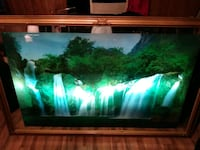 70 inch Waterfall light up wall mount frame with nature sounds
