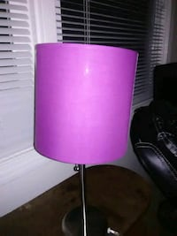 pink and black table lamp
