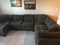 Brown sectional couch Coral Gables