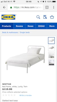 IKEA Single Bed with mattress - Excellent condition Vancouver, V5Y