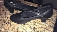 pair of black leather flats Gilmer, 75644