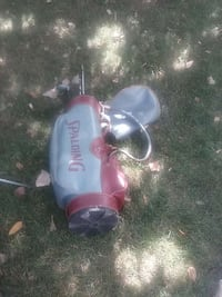 grey and red Spalding golf club bag and clubs Dearborn Heights, 48127