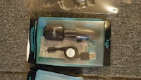 Micro USB retractable Car and wall charger combination. Brampton, L6S 3K2