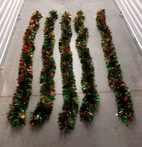 Set of 5 - 6 ft Red & Green Christmas Garland Alexandria, 22306