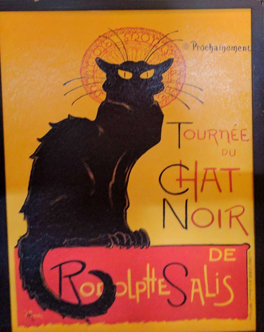 Vintage French Cat Wall Art