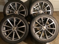 4 x 245/40/18 OEM AUDI RIMS WITH PIRELLI TIRES MADE IN GERMANY $$$$950 Kitchener