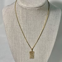 10k Fine Gold Pendant & 14k Gold Vermeil Box Chain Chantilly, 20151