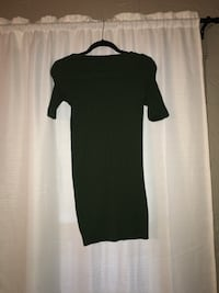 women's green bodycon mini dress