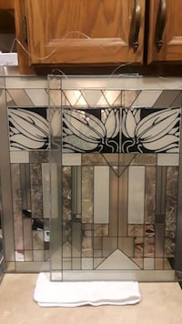 VINTAGE ART DECO STAINED GLASS Oaklyn, 08107