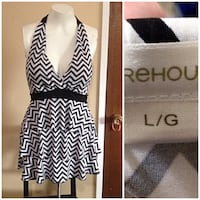 women's white and black sleeveless dress Winnipeg, R2L 1G2