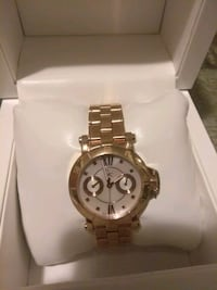 round silver-colored chronograph watch with link bracelet Los Angeles, 90003