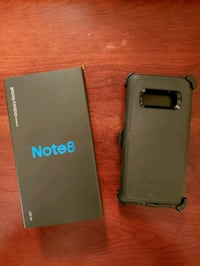 black Samsung Galaxy Note 8 with box Woodbridge, 22191