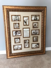 Brown wooden framed photo of white and black photo frame Ashburn, 20148