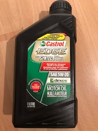 Castrol Edge synthetic engine oil 5w-20 Montréal, H3W 3E3