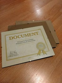 3 Clear Frames for Document Display Toronto, M3N 3A6