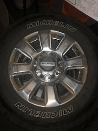 "BRAND NEW 20"" Michelin A/T factory rims and tires Ford F-350 SuperDuty"