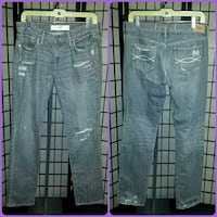 ABERCROMBIE & FITCH DESTROYED RIPPED ROCKER JEANS