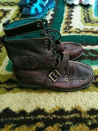 pair of black leather boots Portsmouth, 23701