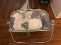 baby's white and gray cradle and swing WASHINGTON