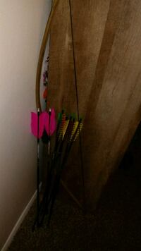 Glass bow new string and arrows