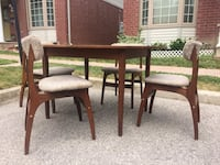 brown wooden dining table set London, N6H 4R6