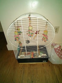 Large bird cage with accessoried