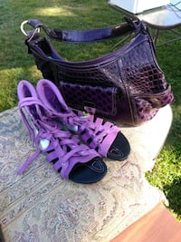 pair of purple-and-black Nike basketball shoes Jennings, 70546