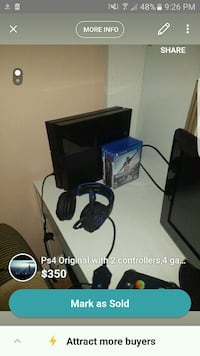 Ps4 with headset,2 controllers,and games San Mateo, 94402