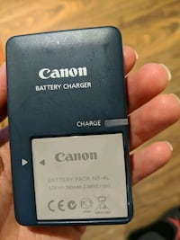 Original Canon NB-4L battery and charger
