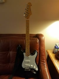 black stratocaster electric guitar last chance