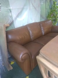 brown leather 3-seat sofa Hollywood, 33020