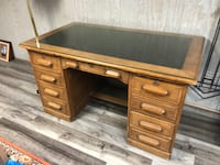 Executive desk-solid oak Burke