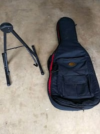 Electric guitar gig case & folding stand Alexandria, 22314