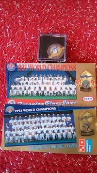1992-1993 back to back world series pins. Make a offer Toronto, M5B 2P2