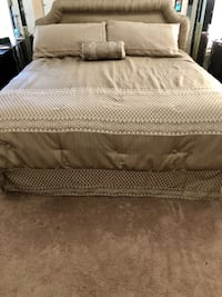King comforter and shams ( taupe ) and skirt West Bloomfield, 48322