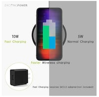 Wireless Charger – 10w Mini Wireless Charger for Samsung Galaxy S9/S9 plus, 7.5w Travel Wireless Charger for iPhone X/8, Small Wireless Charger for Qi-Enabled Devices AC adapter not included 西科维纳
