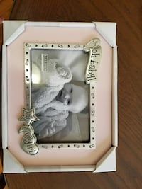pink and stainless steel photo frame box