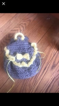 Crochet small gray and yellow wallet size bag Linthicum Heights, 21090
