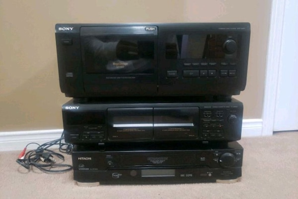 CD player cassette player and VCR