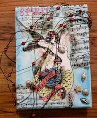 Mermaid mixed media canvas 39 km