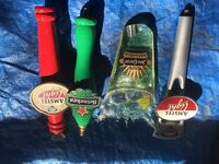 Four assorted color beer tap handles Glencoe, 60022