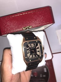 square black analog watch with black leather strap Burnaby, V5E