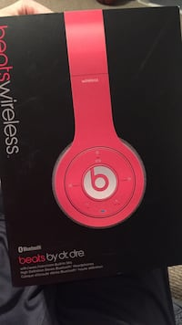 red Beats by Dr. Dre headphones